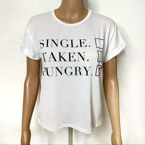PacSun Single Taken Hungry Checkbox T-Shirt
